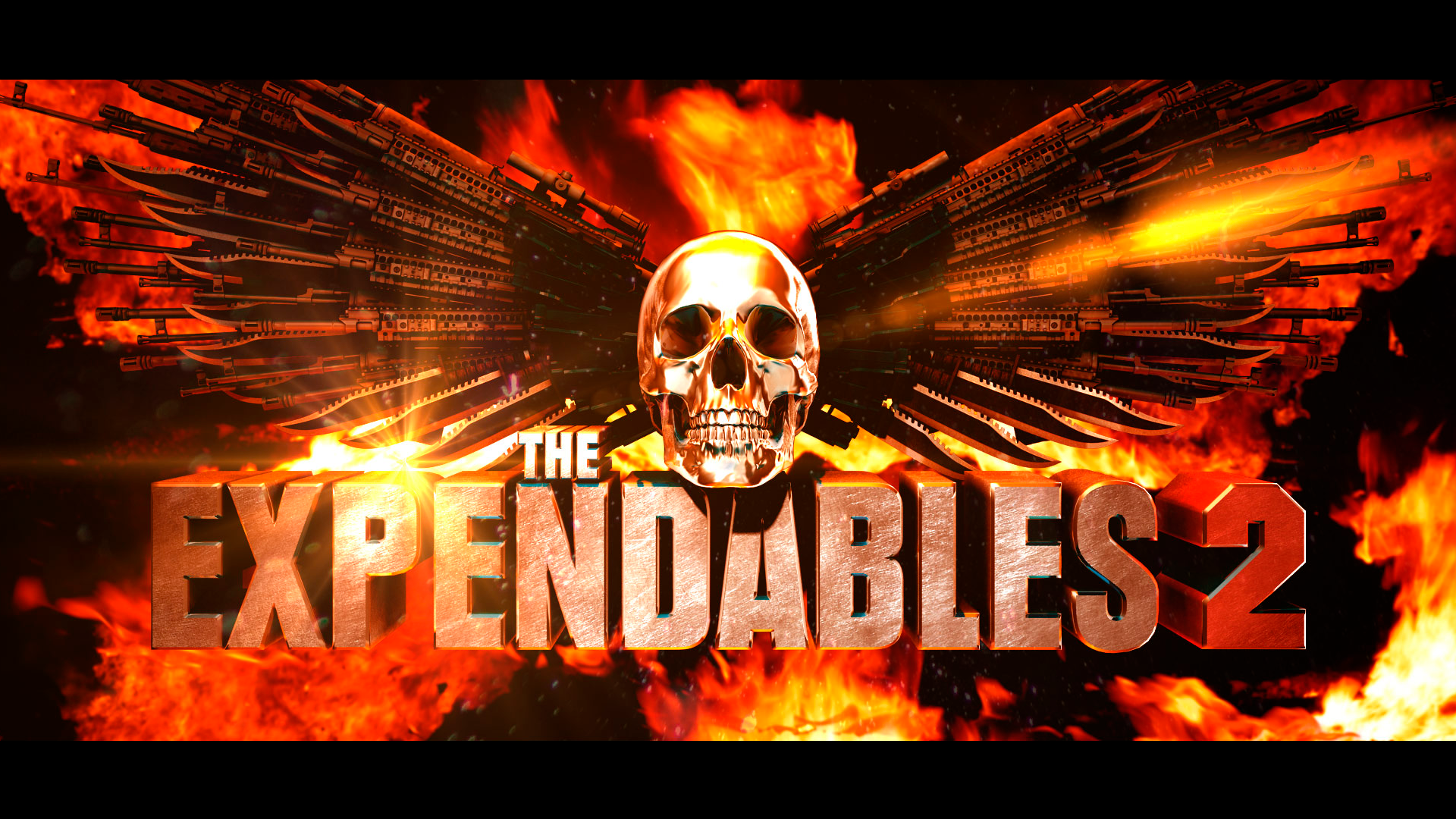 The Expendables 2 Logo Look Dev